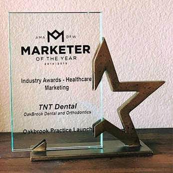 marketer of the year award for TNT Dental website
