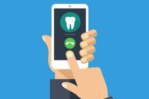 Dental patient calling dentist