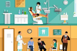 Patients at a dental office