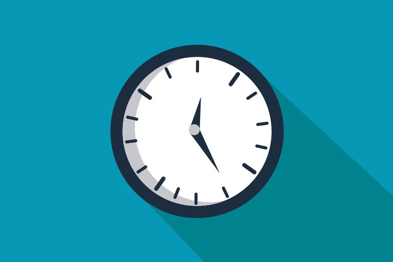 Clock displaying 12:25 pm