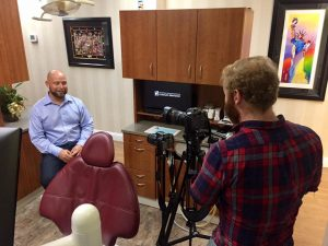 TNT Dental videographer interviewing a dentist