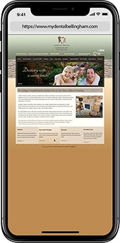 Before image of dental website case study