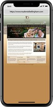 Before image of dental website case study