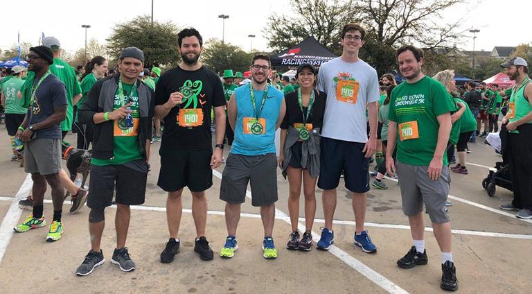 TNT Dental team members at 5K race